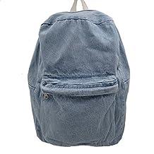 JUICE College School Bags Denim Backpacks Cute Bookbags Student Laptop Bag Pack for Teenage (Royal Blue)