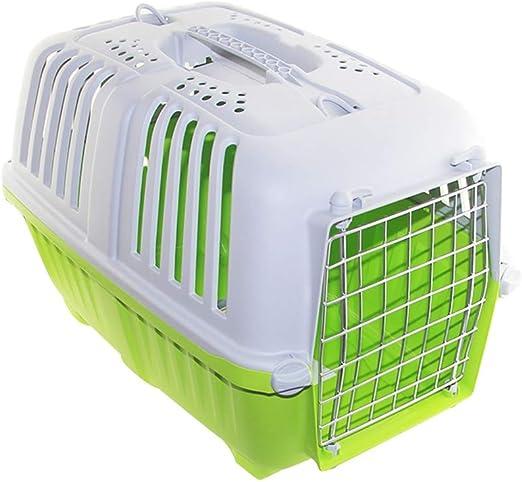 Fanuosu Camas para Gatos Plástica del Gato del Perro del Portador de la Jaula de avión aprobados portátiles Cachorros Mascotas Perros de la Perrera Cielo Cajas al Aire Libre Compañías de Transporte: