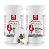 Women multivitamin for Hair - Women's Daily Pack Complex - MULTIVITAMIN & Mineral Blend - spirulina Bulk Supplements - 2 Cans 60 Packs (420 Pills)