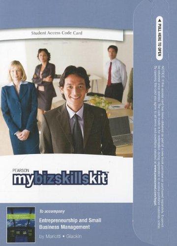 MyBizSkillsKit -- Valuepack Access Card -- for Entrepreneurship and Small Business Management
