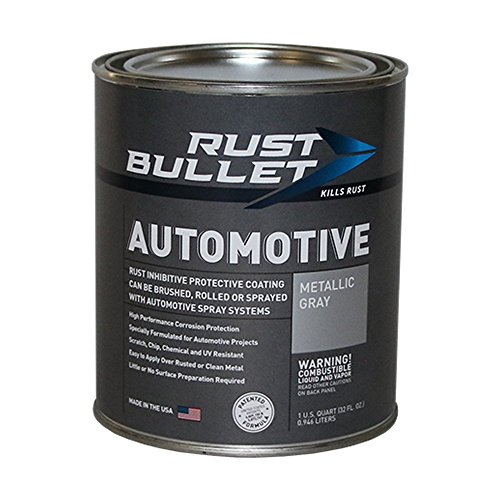 Rust Bullet RBA53 Automotive Rust Inhibitor Paint, 1 Quart Metal Can, Metallic Gray