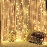 M-Better LED Window Curtain Lights, 144 LED, 13ft x 2ft, 8 Modes, String Fairy Lights for Christmas Halloween Wedding Party Bedroom, Bed Canopy, Garden, Patio,Outdoor Indoor (Warm White)