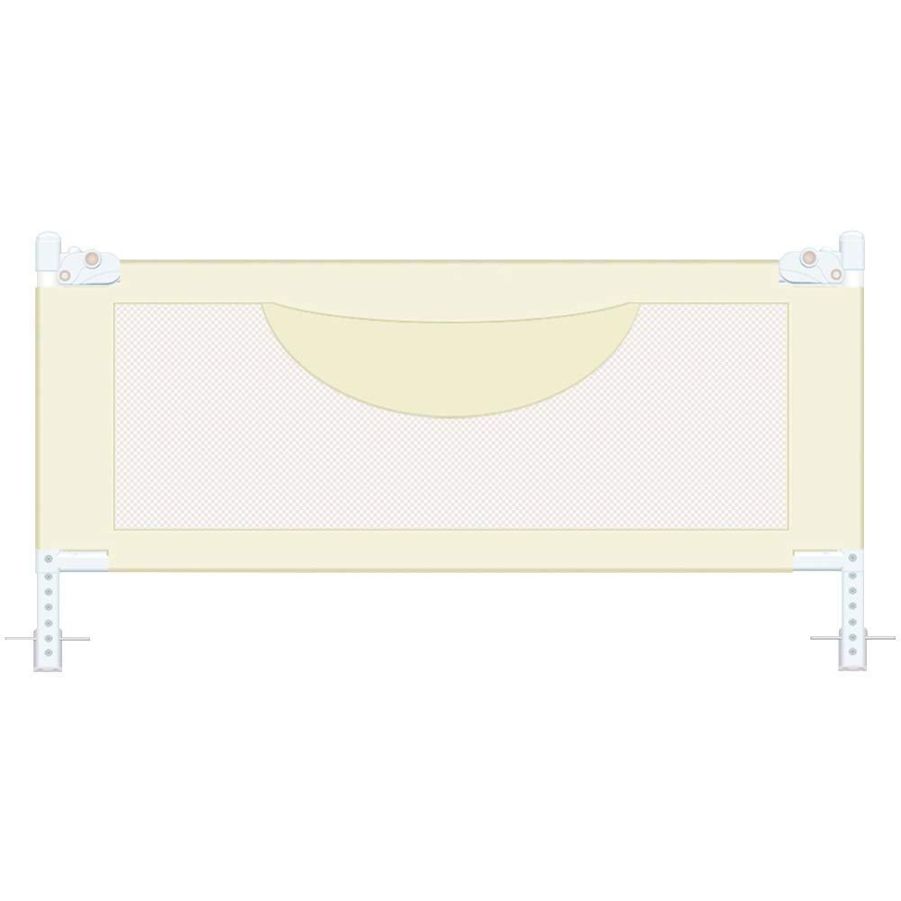 HUO ベッドフェンス 子供保護ガードゲートポータブル折りたたみベッドレールベッドガード保護安全幼児子供ポータブル安定した組み立てが簡単 (Color : Beige, Size : 200cm) 200cm Beige B07SN8LFJH