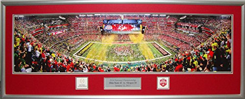 Ohio State Football Game Score (Ohio State National Champions Panorama Framed OSU Large Picture 14