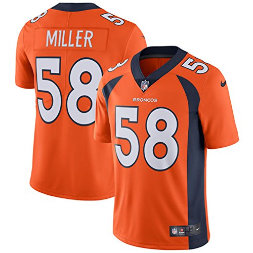 Nike Men's #58 Denver Broncos Von Miller Limited Jersey Orange ()