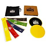 Cheap Flash Sale! Mountain Top Products -Gliding Discs and Resistance Bands (5) Set w/Carrying Case – Easy to Use, Versatile for Glute Strengthening/Core Activation/Fitness/Home & Gym Workouts/Yoga/Pilates