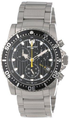 Swiss Eagle Men's SE 9005-11 Sea Ranger Chronograph Black Watch
