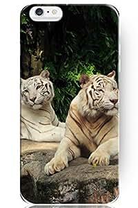 SPRAWL Cute Design 5.5 Inch Apple Iphone 6 Plus Hard Protective Animal Case -- Tiger Partner
