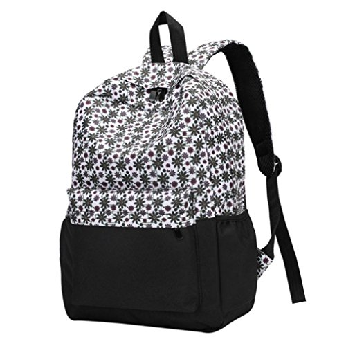 Backpacks Women Sale Fashion Bag Messenger Casual Fresh Clearance Style Floral for Printed Women's Sunday77 Ladies Bookbags Travel Backpack D pwqqExSfR