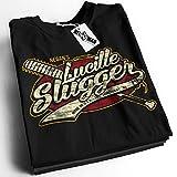 Lucille Slugger The Walking Dead Parody Negan Saviors Barbed wire Baseball Bat Mens Shirt S Black