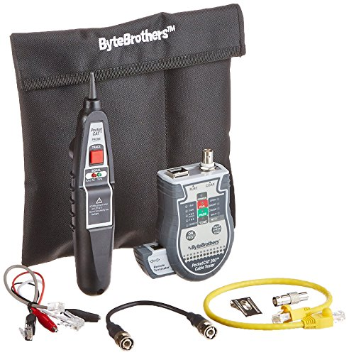 Triplett / Byte Brothers CTX200P Pocket CAT LAN Tester with Inductive Tone Probe for RJ45 CAT5 CAT6 and Coax -