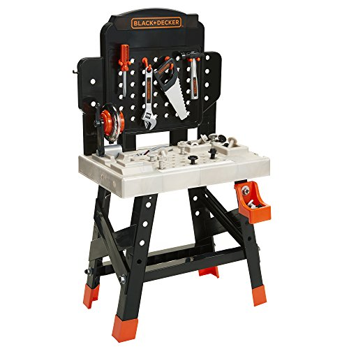 BLACK+DECKER 71382 Jr. Mega Power N Play Workbench with Realistic Sounds! - 52 Tools & Accessories