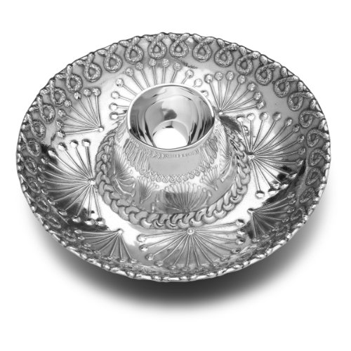 Wilton Armetale Sombrero Chip and Dip Server, Round, 15-Inch -