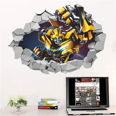(Transformers Movie Bumblebee Giant Wall Decal Sticker Wallpaper Decor Applique)