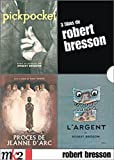 Robert Bresson Box Set: Pickpocket / Proces de Jeanne d'Arc / L'Argent [Region 2 / PAL French Import]