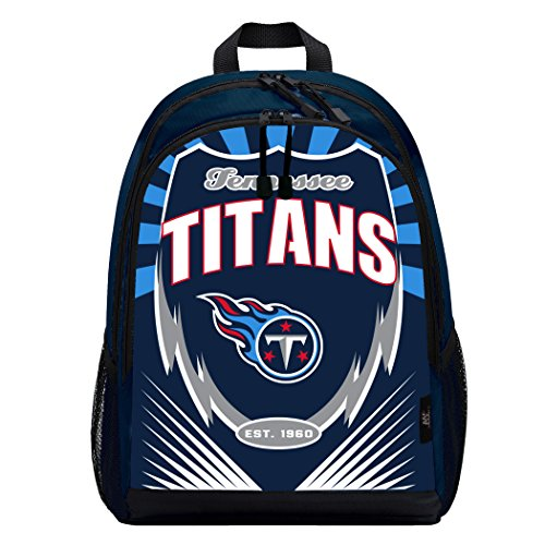 Officially Licensed NFL Tennessee Titans Lightning Kids Sports Backpack, Blue
