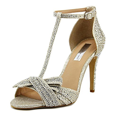 Womens Toe D Concepts Champagne Peep Ankle International Risha2 INC Strap Fabric orsay YnfxEzqzw