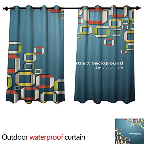 Outdoor Curtain for Patio Abstract Origami Background