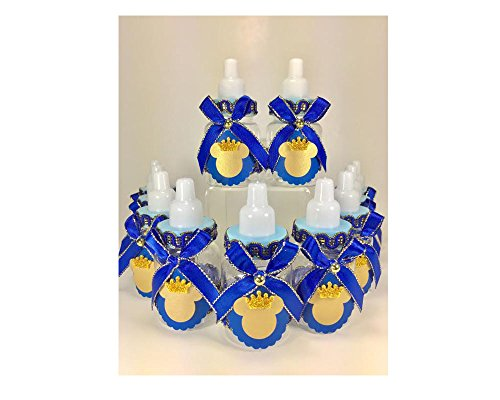 Party Supply 12 Royal Blue and Gold Little Prince Mickey Mouse Baby Shower Favor set -