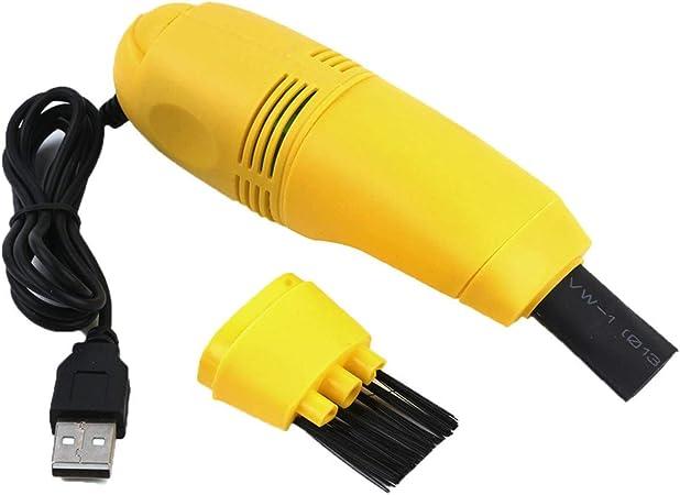 Greatangle Mini aspiradora de Teclado de computadora USB de tamaño pequeño, Mini aspiradora, computadora para PC, computadora portátil, Escritorio, Amarillo: Amazon.es: Hogar