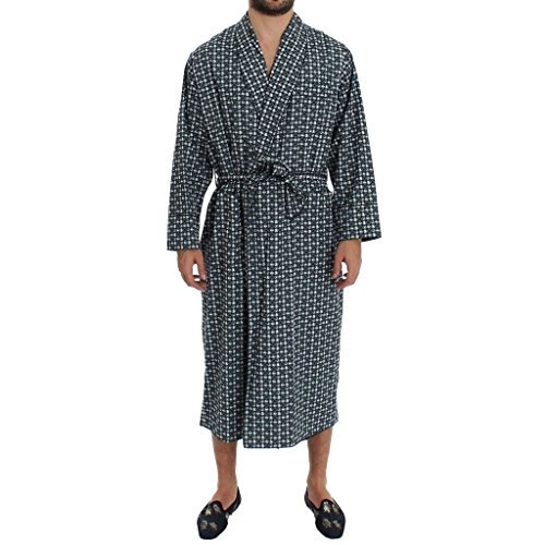Dolce & Gabbana Green Hat Print Cotton Robe Coat (Dolce & Gabbana Print Coat)