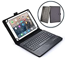 Microsoft Surface Pro 3 keyboard case, COOPER INFINITE EXECUTIVE 2-in-1 Wireless Bluetooth Keyboard Magnetic Leather Travel Cases Cover Holder Folio Portfolio + Stand i3 i5 i7 5D2-00019 (Black)