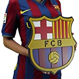 FC Barcelona soccer crest shield acrylic to hang on wall with stand same as on Messi Neymar Barcelona jersey