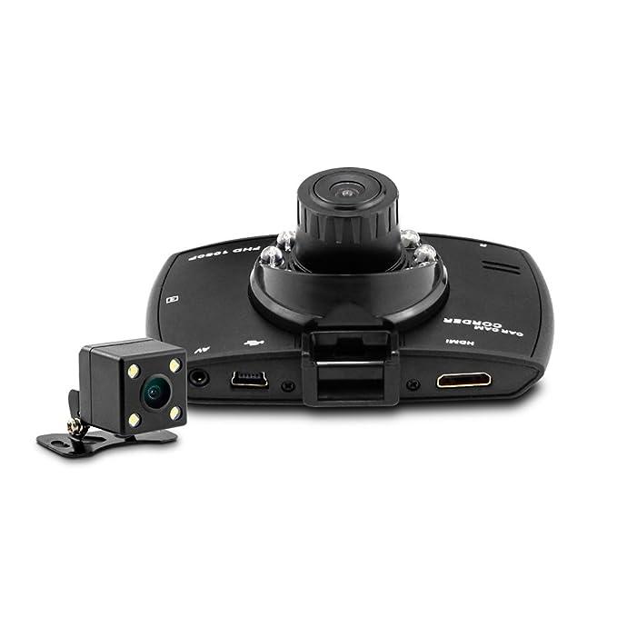 Dome G30B 2,7 pulgadas doble lente 1080P 720P Full HD coche DVR: Amazon.es: Electrónica