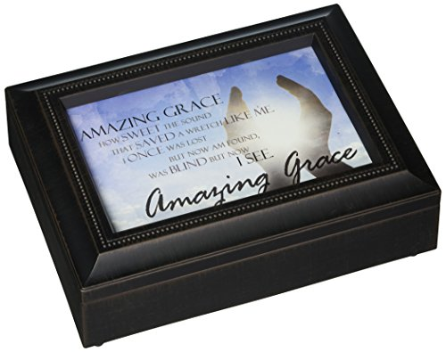 Carson Home Accents 17991 Amazing Grace Rectangle Music Box, 8-Inch by 6-Inch by - Stores Mall Carson