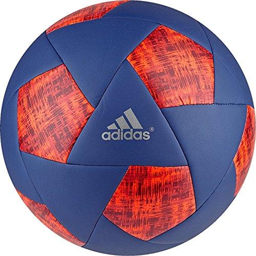 adidas Performance X Glider Soccer Ball, Collegiate Royal/Silver Metallic/Solar Red, Size 5