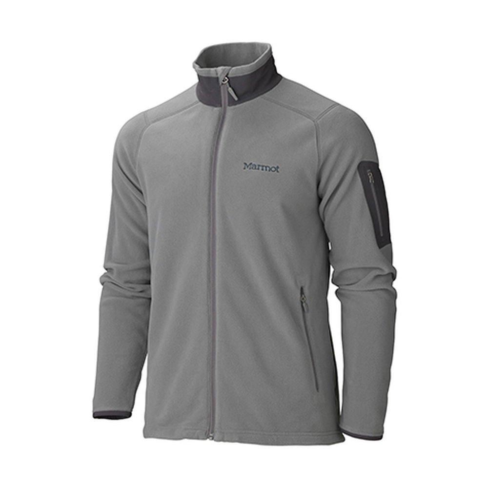 Marmot Reactor Full-Zip Fleece Jacket - Men's Cinder, L by Marmot