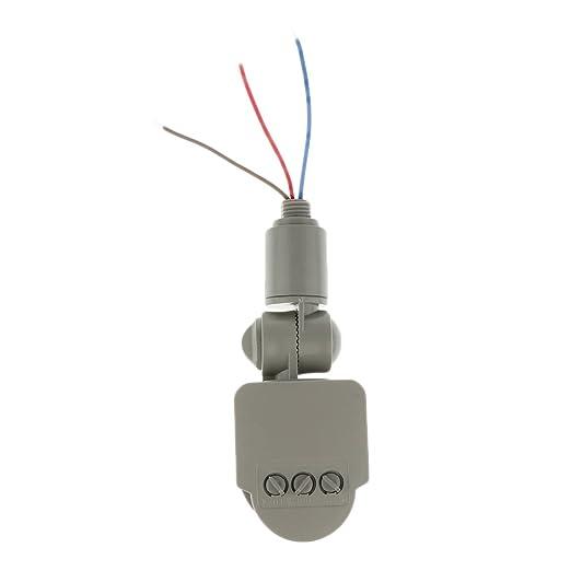 12m Pir Detector Sensor de Movimiento Infrarrojos Luz Al Aire Libre RF AC85V ~ 265V - Gris