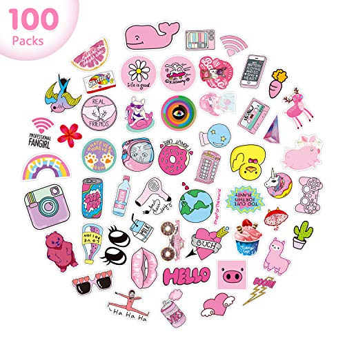 Waterproof Trendy Sticker Pack Cool Stickers 100PCS Aesthetic Durable