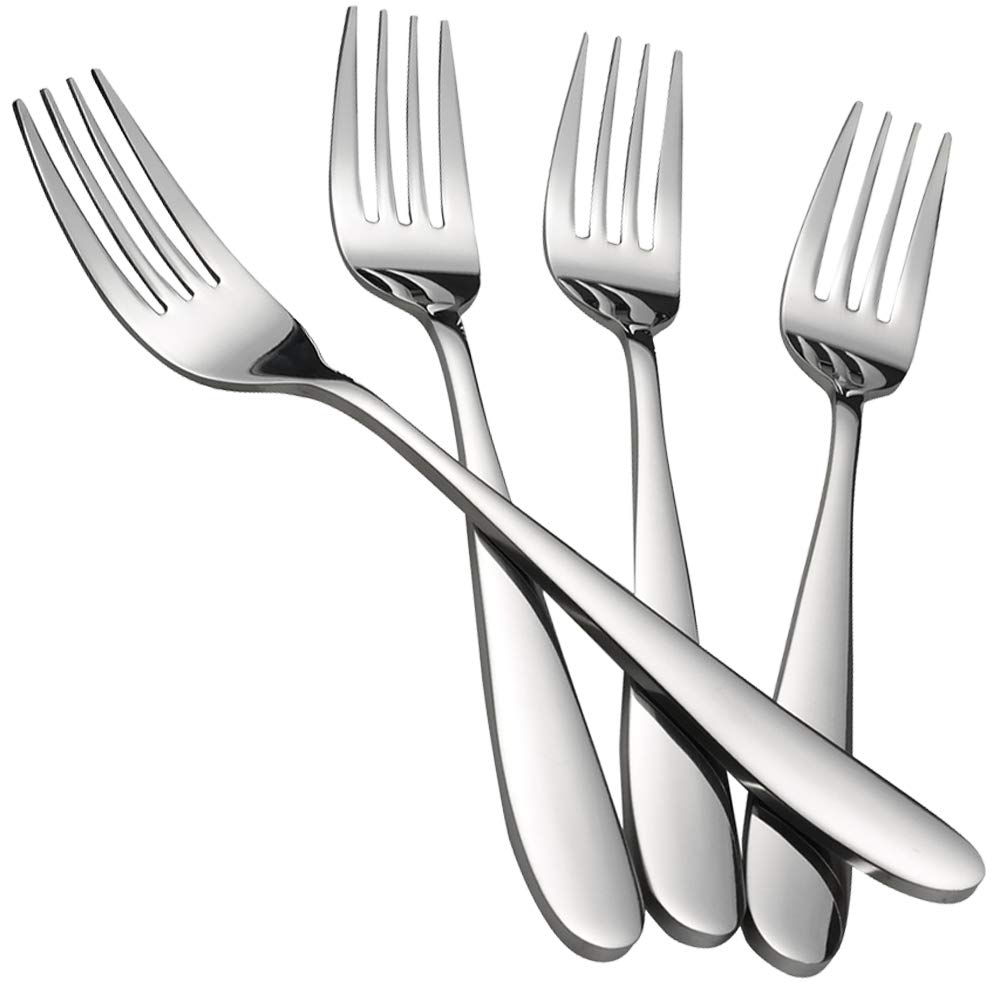 Kekow Serving Fork Set, 8-Piece Stainless Steel Buffet Serving Fork, 9.37-INCH by Kekow