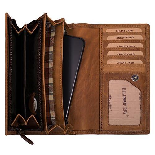 Damen Reißverschluss Portemonnaie Brieftasche Kompakt Portmonee Leder Geldbörse