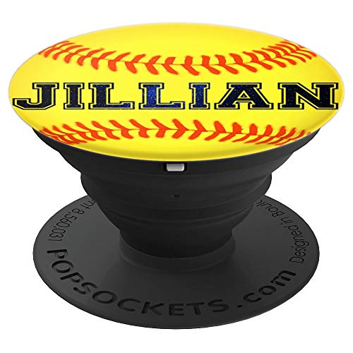 Jillian Softball Personalized Girl Name Ball Athlete Play - PopSockets Grip and Stand for Phones and Tablets (Best Player Names For Games)
