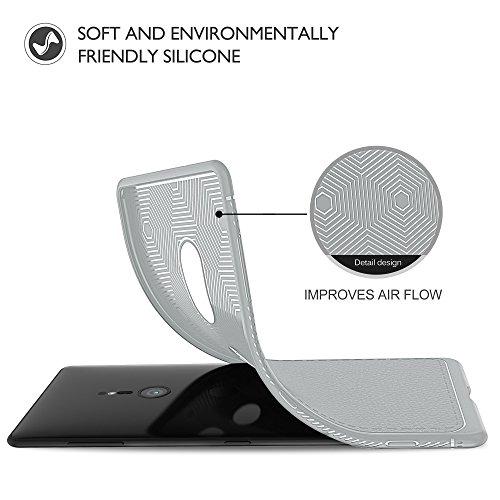 Funda Sony Xperia XZ2, iBetter anti-rasca la Carcasa del teléfono TPU del de la imitación ninguna Case del teléfono móvil caja del teléfono Cover para Sony Xperia XZ2 Smartphone,(Azul) Gris