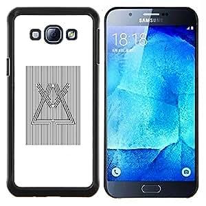 Stuss Case / Funda Carcasa protectora - Prisma Refracción de la luz blanca Negro - Samsung Galaxy A8 A8000