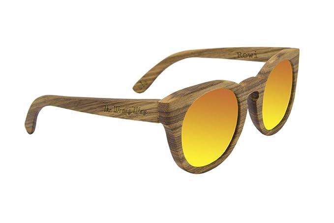The Wrong Way Gafas de Sol de Madera Ojos de Gato Polarizadas 100% Madera de