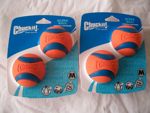 Four Chuckit Medium Ultra Balls product image