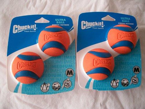 Four Chuckit Medium Ultra Balls