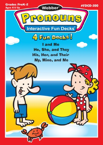Webber Pronouns Interactive Fun Decks – Super Duper Educational Learning Software for Kids