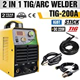 ARC Welder - TOSENBA TIG Welder Tig/Arc/Stick Tig Welding Machine 200Amp 220V DC Inverter IGBT MMA Digital Display