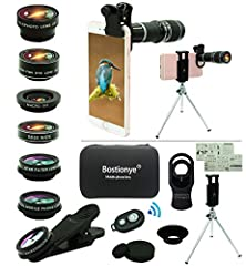 Note: Devices using two cameras (such as iPhone double camera) need to be installed on the main camera (the camera on the left) to shoot, without the need for covering two cameras.  When shooting with a 20X telephoto lens, be careful to tigh...