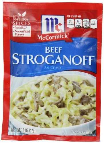 McCormick Beef Stroganoff Sauce Mix, 1.5 oz (Pack of 12)