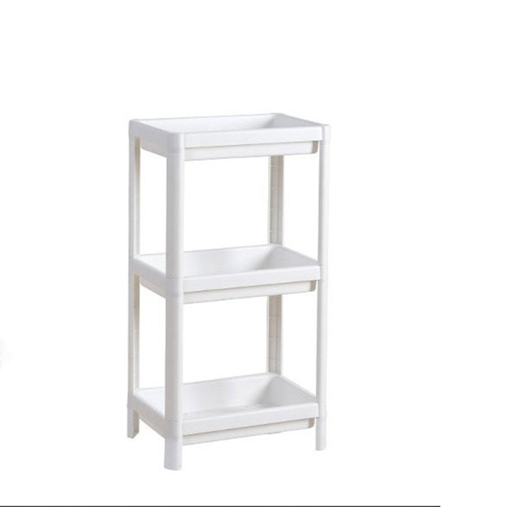 Aiosscd 3 Tiers Bathroom Space-saving Wall Shelf, Kitchen Storage Shelf, 70 x 35 x 23 cm Using in Bathroom, Living Room, Kitchen, White,