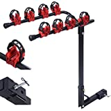 """Comie 4 Bicycle Bike Rack Carrier 1-1.4"""" & 2"""" Bicycle Hitch Mount Carrier Car Truck AUT Swing Away"""