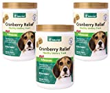 360-Count NaturVet Cranberry Relief Plus Echinacea Soft Chews for Dogs (3 Jars with 120 Chews Each)