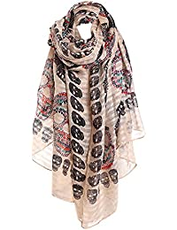 Scarf All-match Shawl Sunscreen Ladies Print Scarf Girls Long Thin Robe