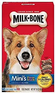 Amazon.com : Milk-Bone Mini'S Flavor Snacks Dog Treats, 15